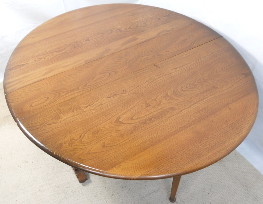 SOLD   Ercol Elm Spacesaver Dropleaf Dining Table to Seat Six. Ercol Elm Spacesaver Dropleaf Dining Table to Seat Six